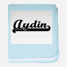 Aydin Classic Retro Name Design baby blanket