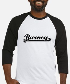 Barney Classic Retro Name Design Baseball Jersey