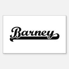 Barney Classic Retro Name Design Decal