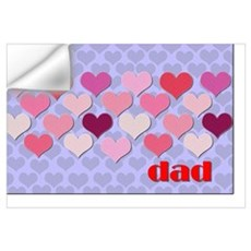 I love Dad Wall Decal