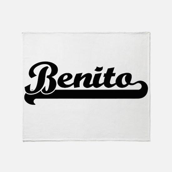 Benito Classic Retro Name Design Throw Blanket
