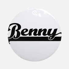 Benny Classic Retro Name Design Ornament (Round)