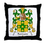 Romain Family Crest Throw Pillow
