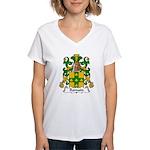 Romain Family Crest Women's V-Neck T-Shirt