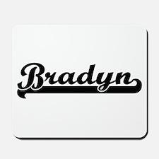 Bradyn Classic Retro Name Design Mousepad
