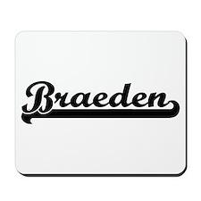Braeden Classic Retro Name Design Mousepad