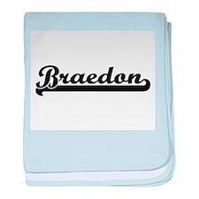Braedon Classic Retro Name Design baby blanket