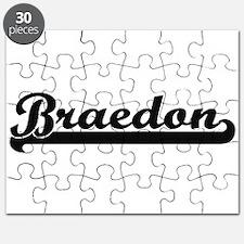 Braedon Classic Retro Name Design Puzzle