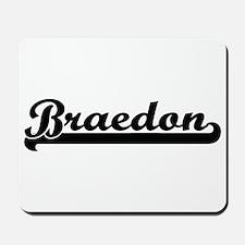 Braedon Classic Retro Name Design Mousepad