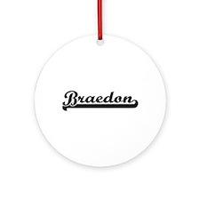 Braedon Classic Retro Name Design Ornament (Round)