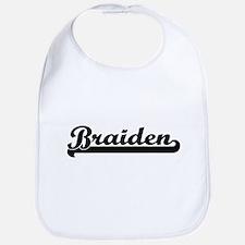 Braiden Classic Retro Name Design Bib