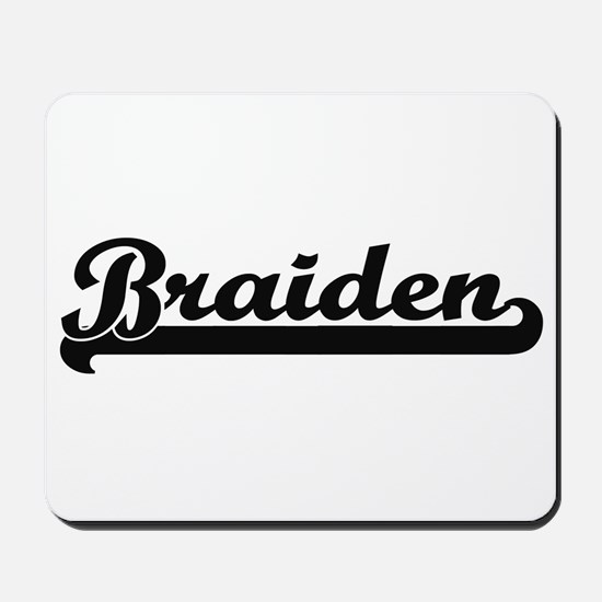 Braiden Classic Retro Name Design Mousepad
