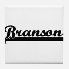 Branson Classic Retro Name Design Tile Coaster