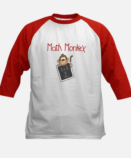 Math Monkey Kids Baseball Jersey