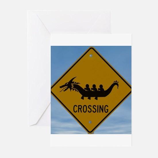 Dragon Boat Crossing Greeting Cards (Pk of 20)