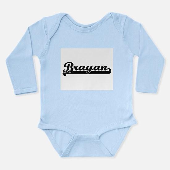 Brayan Classic Retro Name Design Body Suit