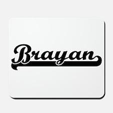 Brayan Classic Retro Name Design Mousepad