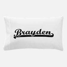 Brayden Classic Retro Name Design Pillow Case