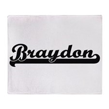 Braydon Classic Retro Name Design Throw Blanket