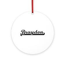 Braydon Classic Retro Name Design Ornament (Round)