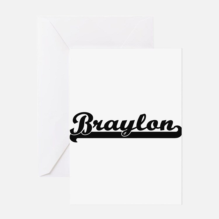 Braylon Classic Retro Name Design Greeting Cards