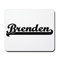 Brenden Classic Retro Name Design Mousepad