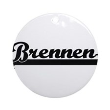 Brennen Classic Retro Name Design Ornament (Round)