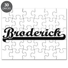 Broderick Classic Retro Name Design Puzzle