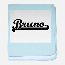 Bruno Classic Retro Name Design baby blanket