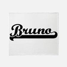 Bruno Classic Retro Name Design Throw Blanket
