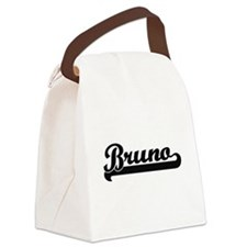 Bruno Classic Retro Name Design Canvas Lunch Bag