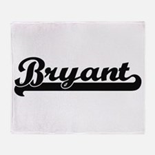 Bryant Classic Retro Name Design Throw Blanket