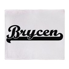 Brycen Classic Retro Name Design Throw Blanket