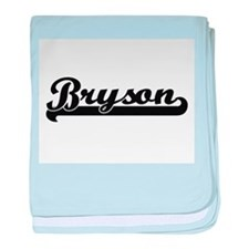 Bryson Classic Retro Name Design baby blanket