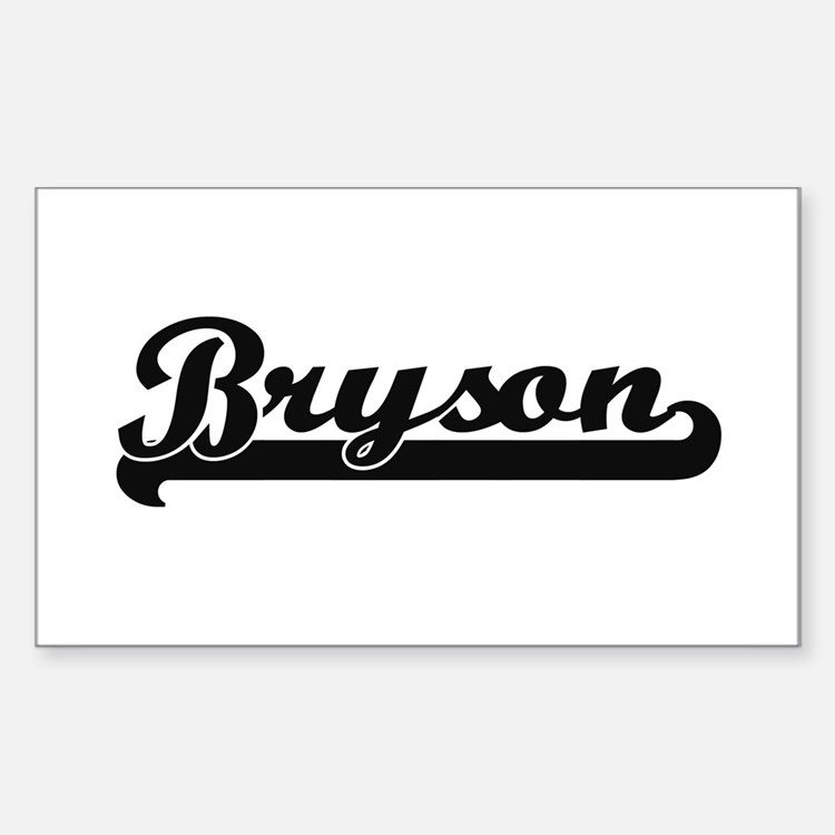 Bryson Classic Retro Name Design Decal