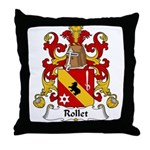 Rollet Family Crest Throw Pillow