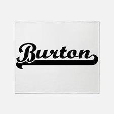 Burton Classic Retro Name Design Throw Blanket