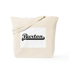 Burton Classic Retro Name Design Tote Bag