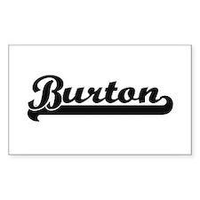 Burton Classic Retro Name Design Decal