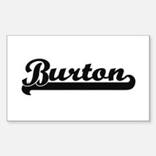 Burton Classic Retro Name Design Decal