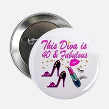 """GORGEOUS 40TH 2.25"""" Button (10 pack)"""