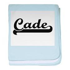 Cade Classic Retro Name Design baby blanket