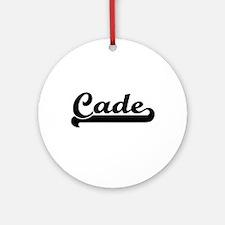 Cade Classic Retro Name Design Ornament (Round)