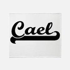 Cael Classic Retro Name Design Throw Blanket