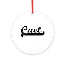 Cael Classic Retro Name Design Ornament (Round)
