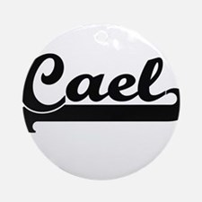 Cael Classic Retro Name Design Ornament (Round)
