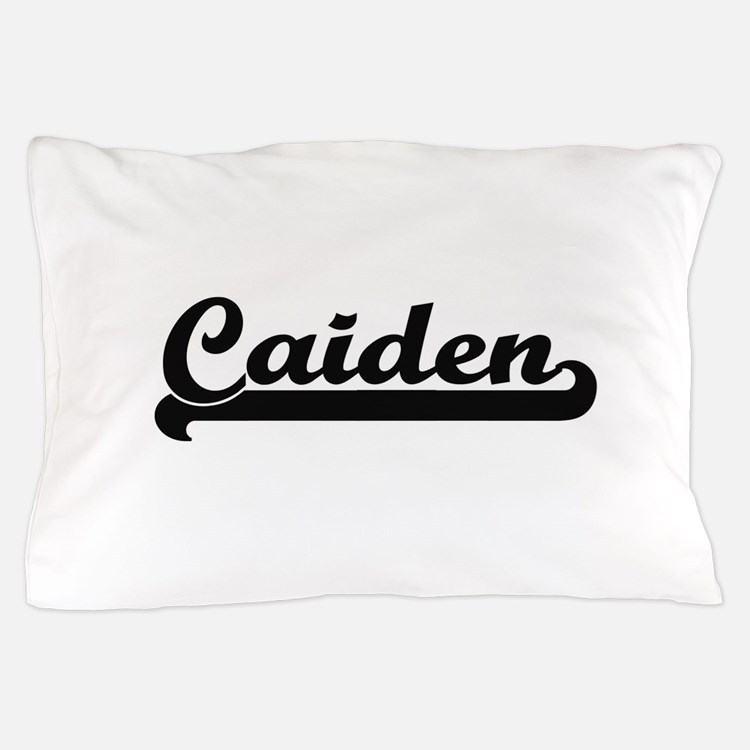 Caiden Classic Retro Name Design Pillow Case
