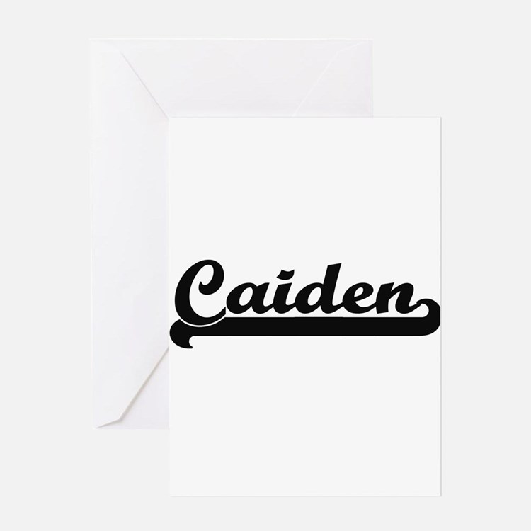 Caiden Classic Retro Name Design Greeting Cards
