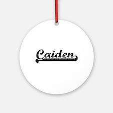 Caiden Classic Retro Name Design Ornament (Round)
