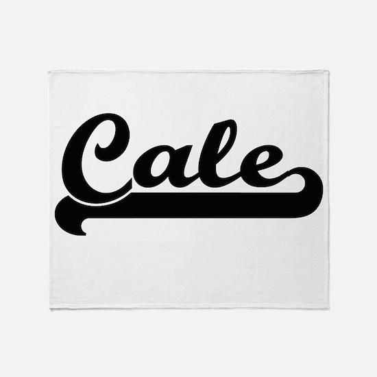 Cale Classic Retro Name Design Throw Blanket